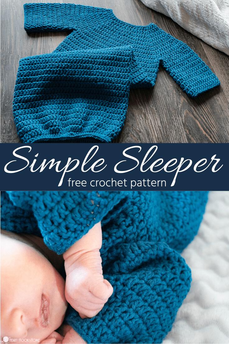 Simple Sleeper Crochet Pattern for Newborns