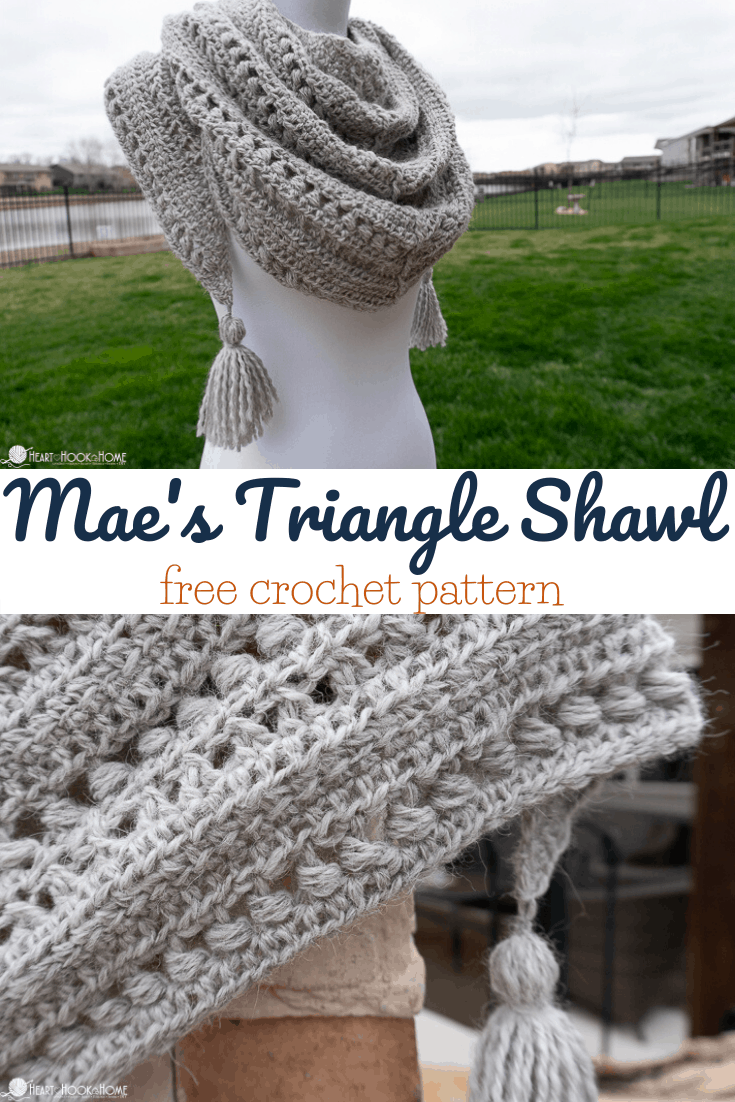 Mae's Triangle Shawl Free Crochet Pattern