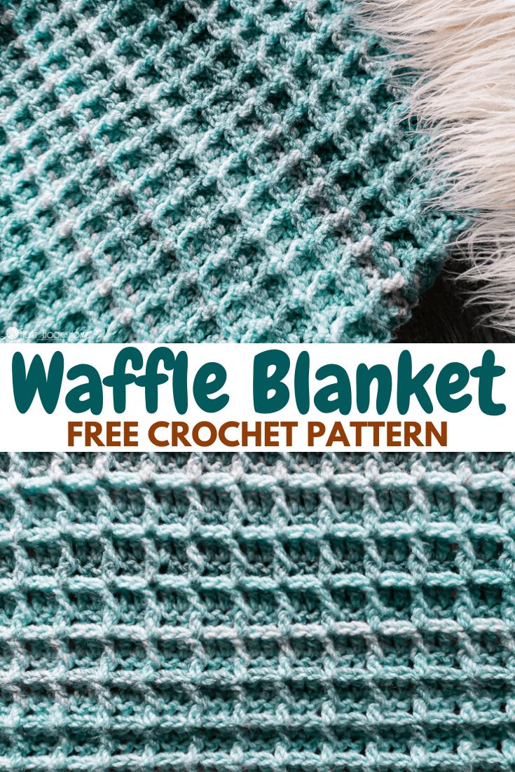 Free waffle blanket crochet pattern