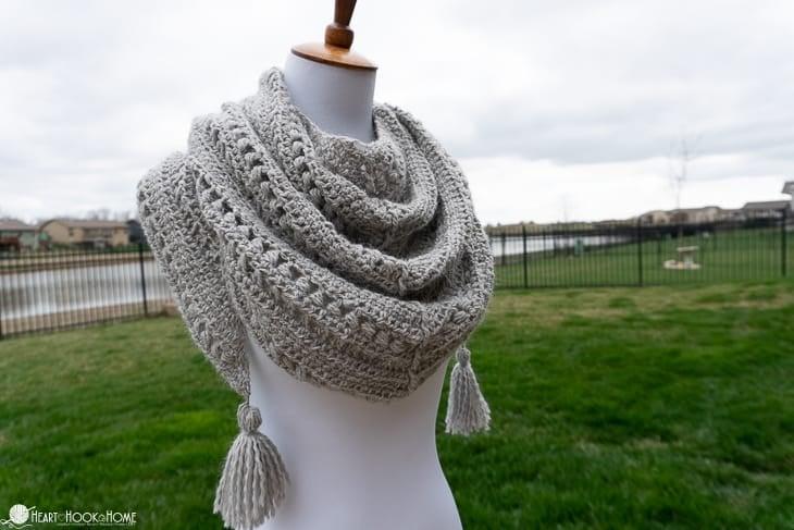 Mae's Triangle Shawl Crochet Pattern