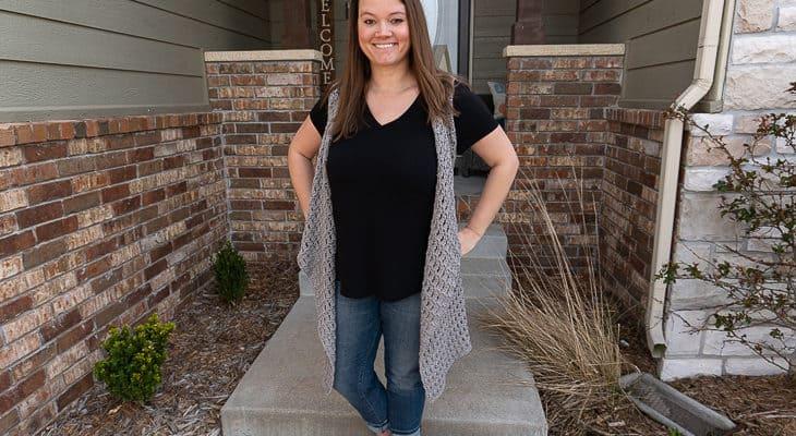 spring vest crochet along
