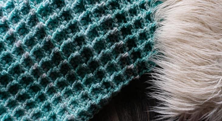 Waffle Blanket Crochet Pattern