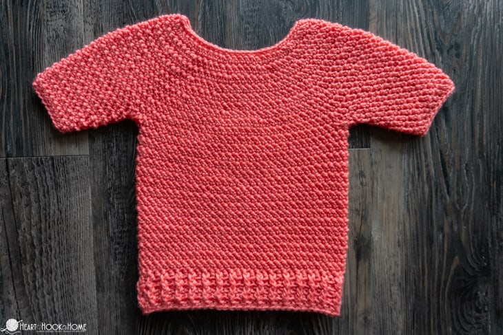 crocheted shanti sweater for infants