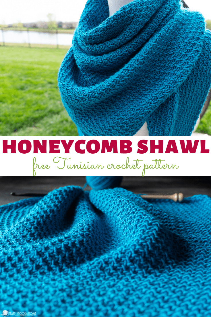 Tunisian Honeycomb Shawl free pattern