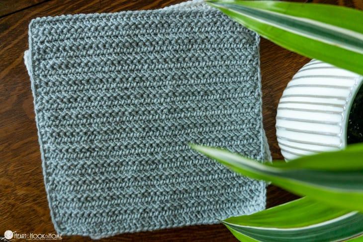 Herringbone stitch sampler square pattern