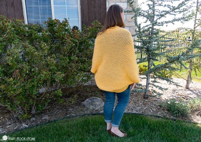 free cocoon pattern in small and plus sizes