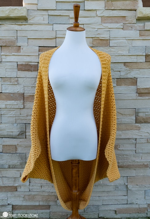 Gorgeous free crochet cocoon sweater pattern