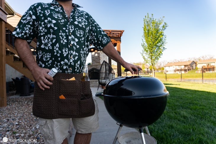 How to make an apron for grilling