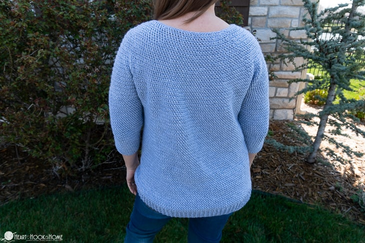 crochet top down sweater circular yoke