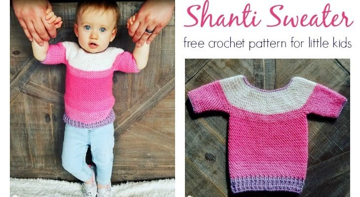 Little Kids Shanti Sweater free crochet pattern