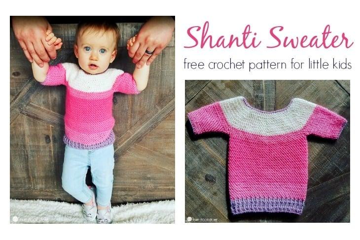 Little Kids Shanti Sweater free crochet pattern