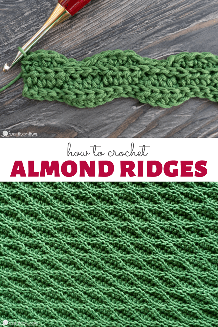 Almond Ridges Crochet Tutorial