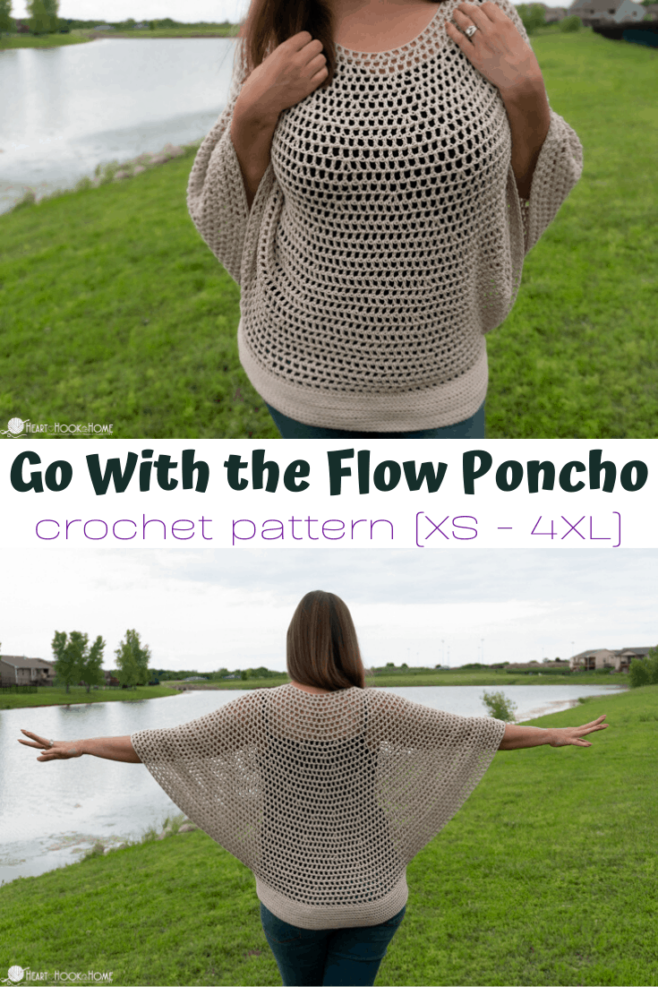 Go with the flow poncho pattern