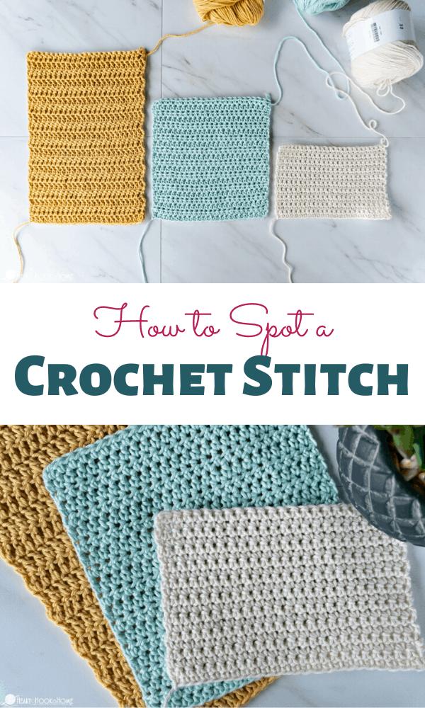 how to identify a crochet stitch
