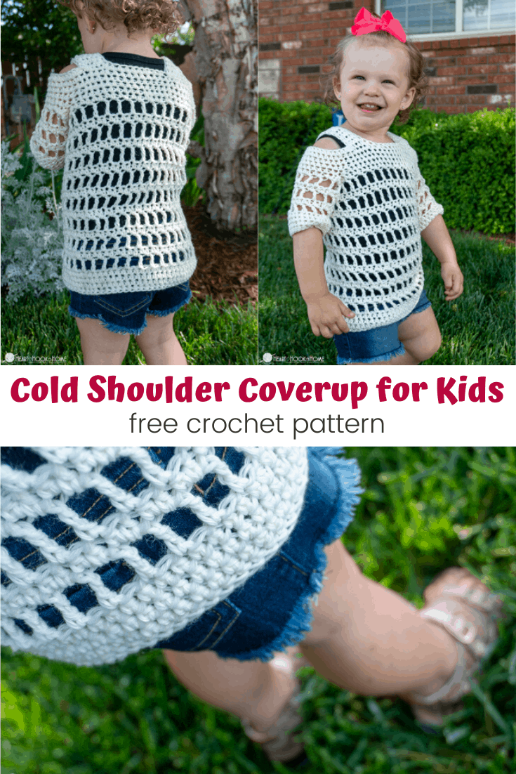 Child Sizes Cold Shoulder Coverup