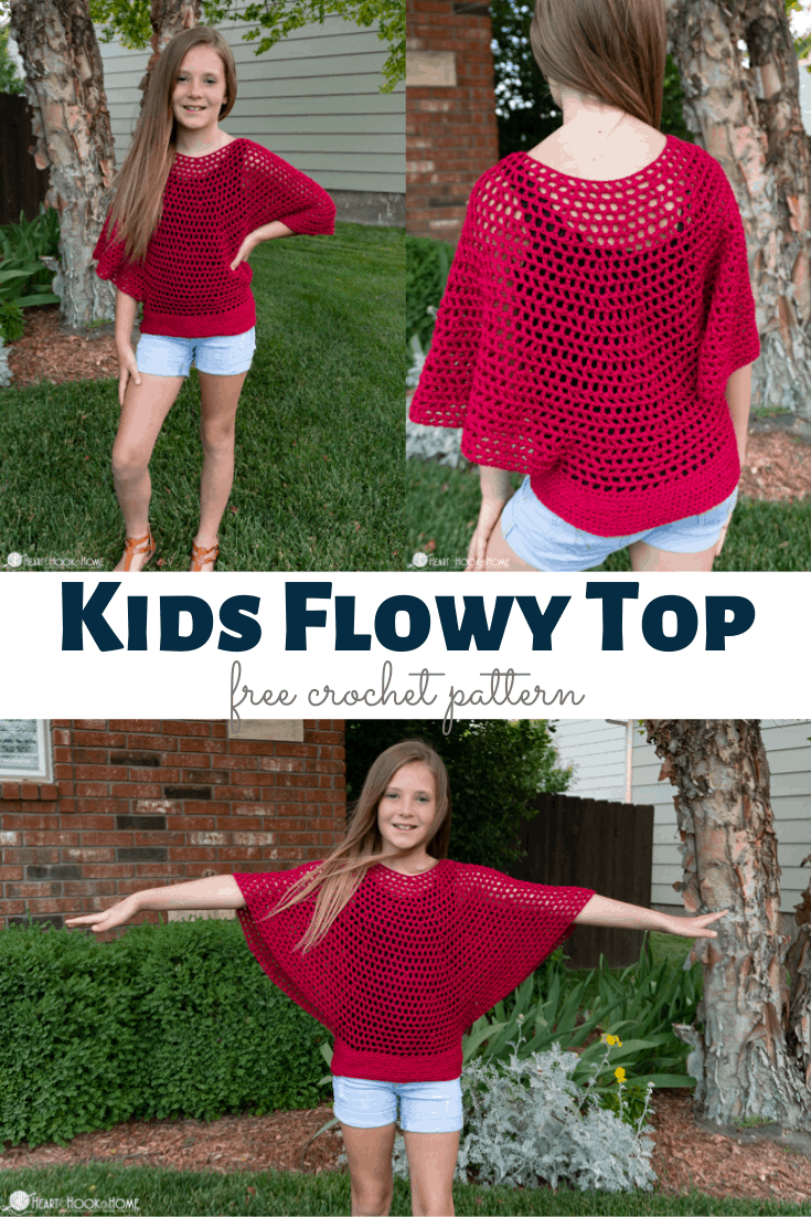Kids Flowy Top Free Crochet Pattern