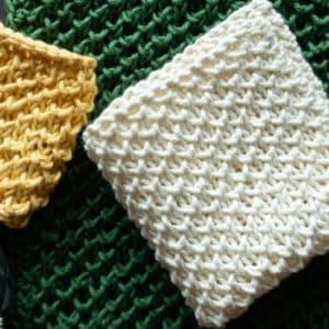 Beehive Washcloth Free Knit Pattern