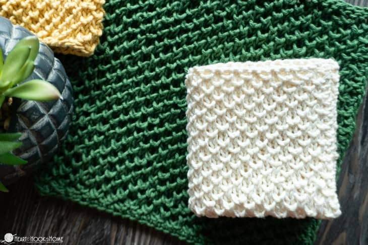 Beginner knit washcloth pattern