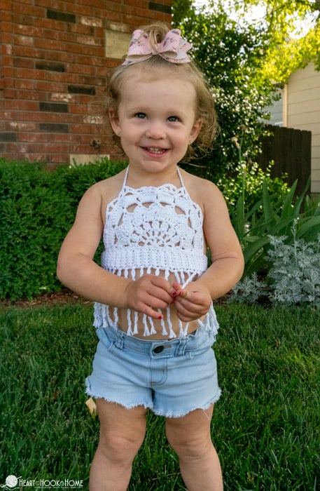 adorable toddler halter top free crochet pattern