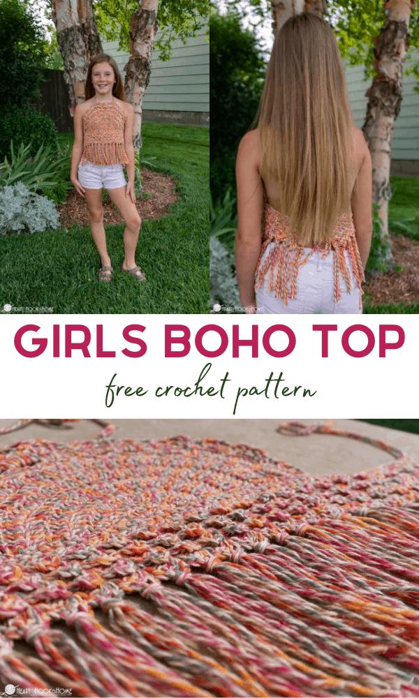 Kids Boho Top Crochet pattern