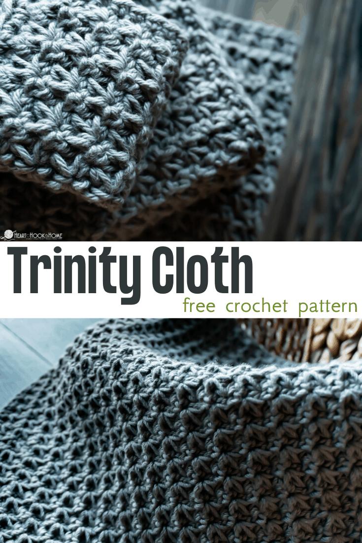 easy washcloth Trinity cloth pattern
