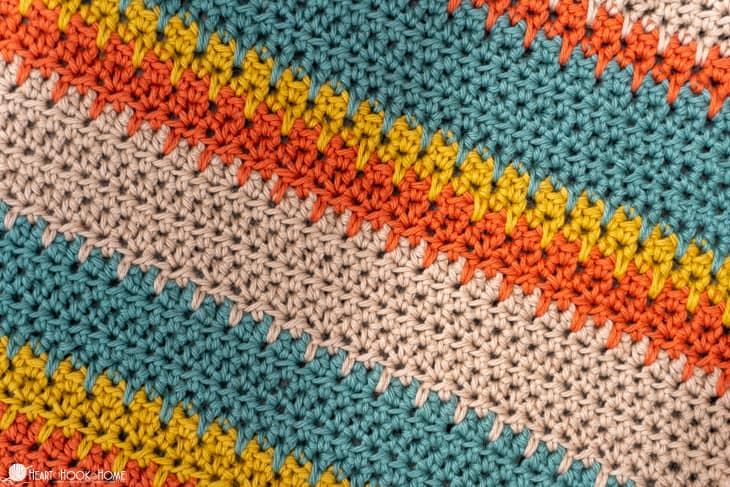 Spike Stitches using Half Double Crochet