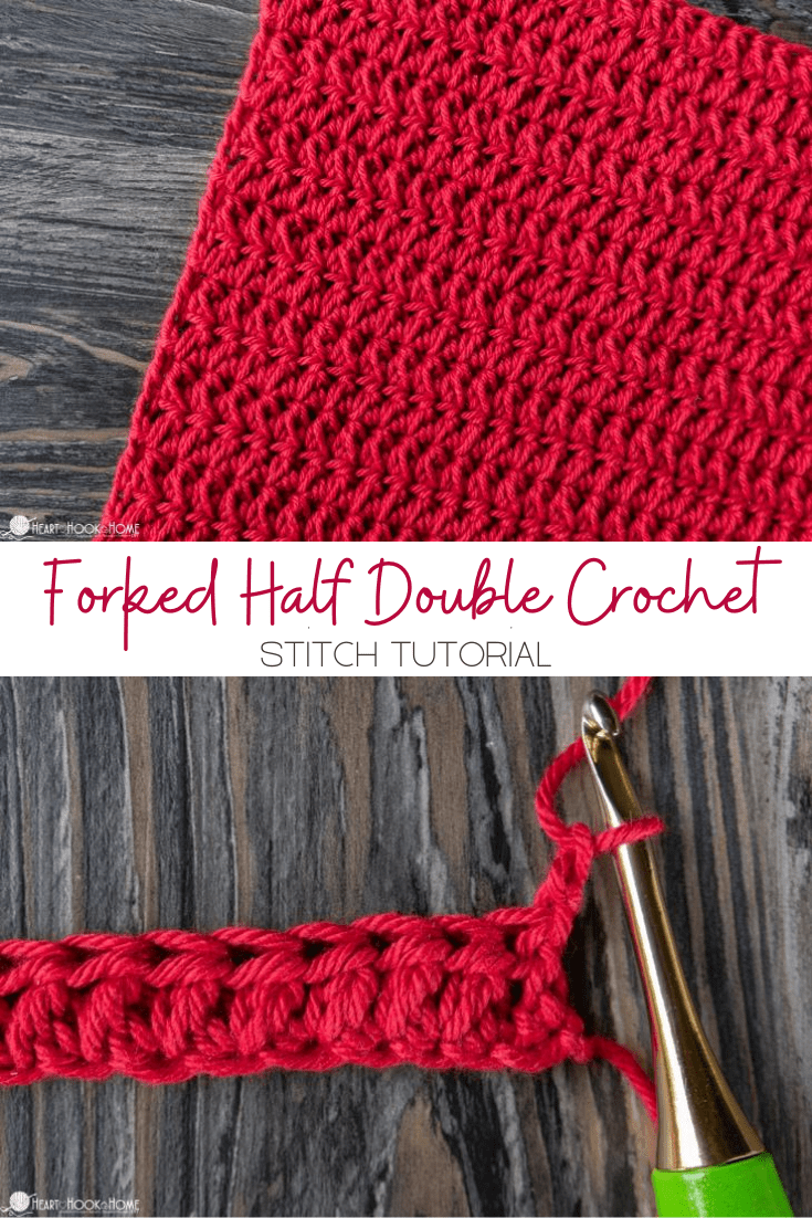 Forked Half Double Crochet tutorial