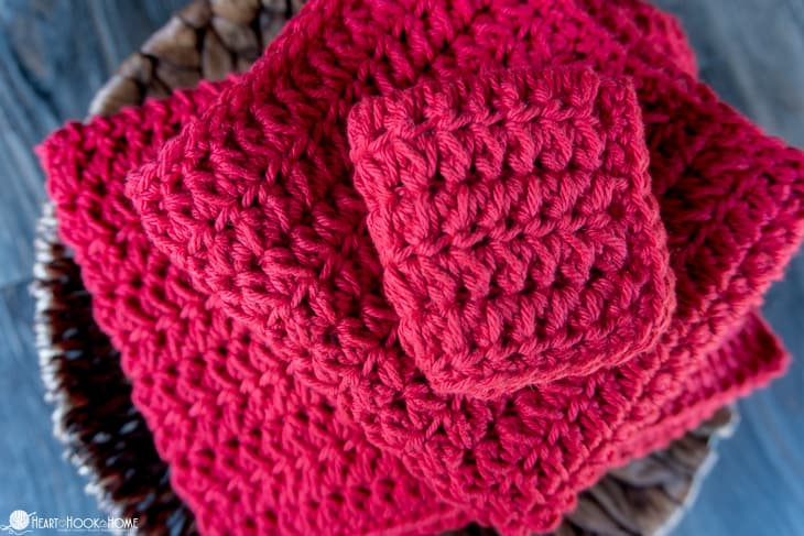 Forked half double crochet cloth pattern