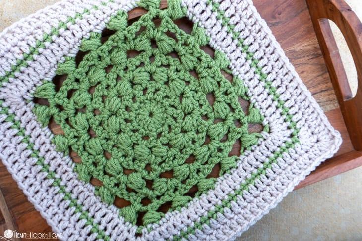 Hydrangea Blossom crochet square