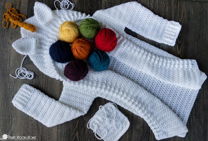 unicorn hoodie crochet for kids