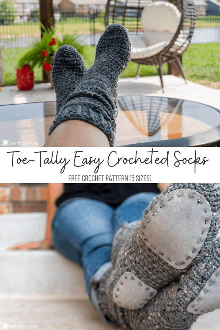 TOE-TALLY EASY CROCHET SOCKS