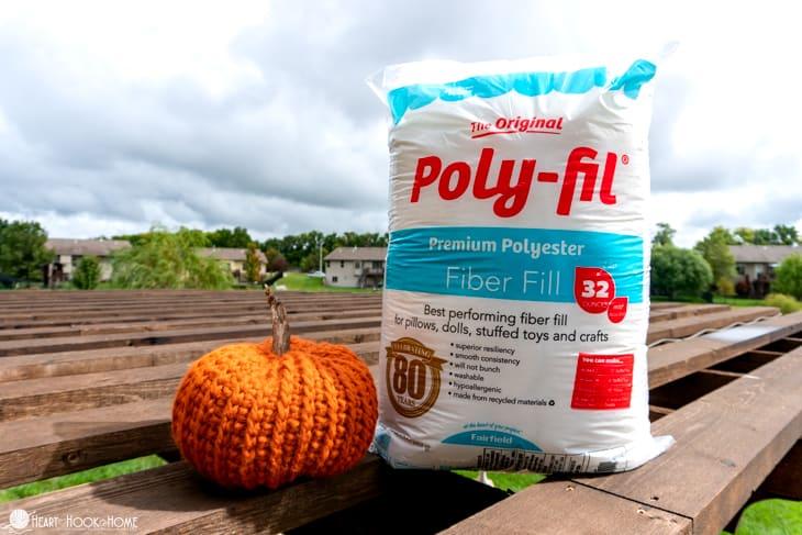 Poly-fil stuffed pumpkin