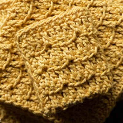 Brick stitch cloth