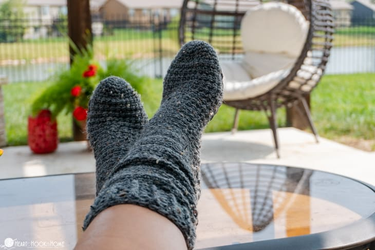 easy crocheted socks toe up