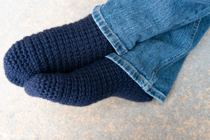how to crochet short row socks