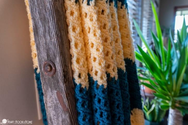 free ripple crochet blanket pattern
