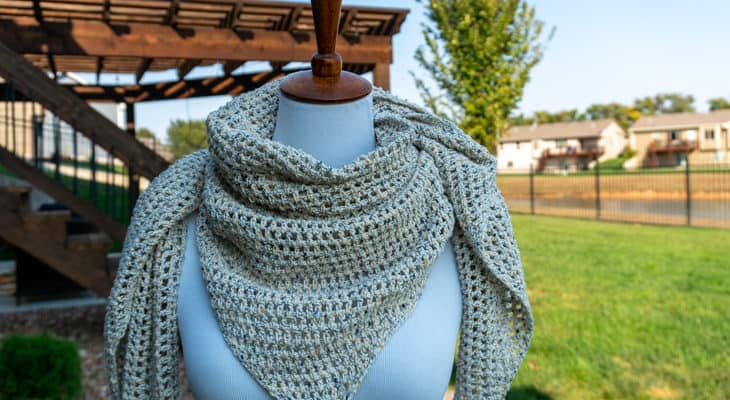 Denim Dreams Triangle scarf crochet pattern