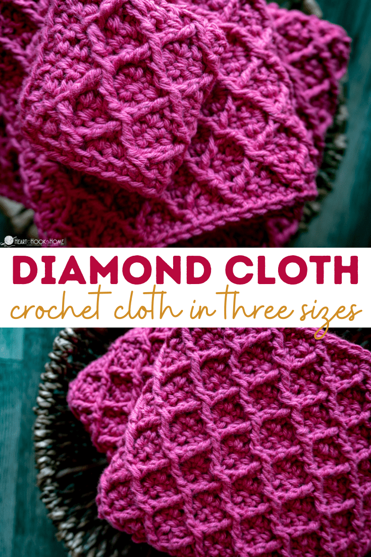 Diamond Cloth crochet pattern in three sizes
