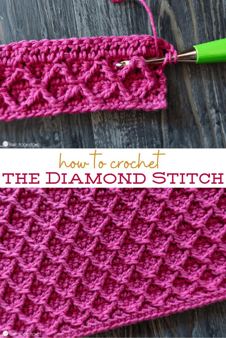 How to crochet the Diamond Stitch