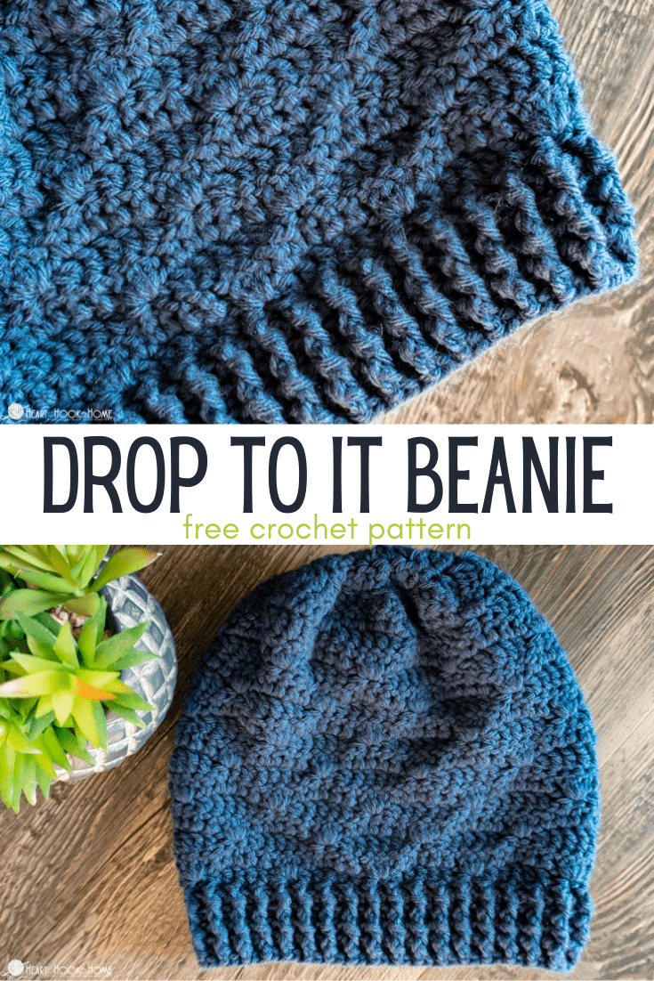 Drop to It Beanie crochet pattern