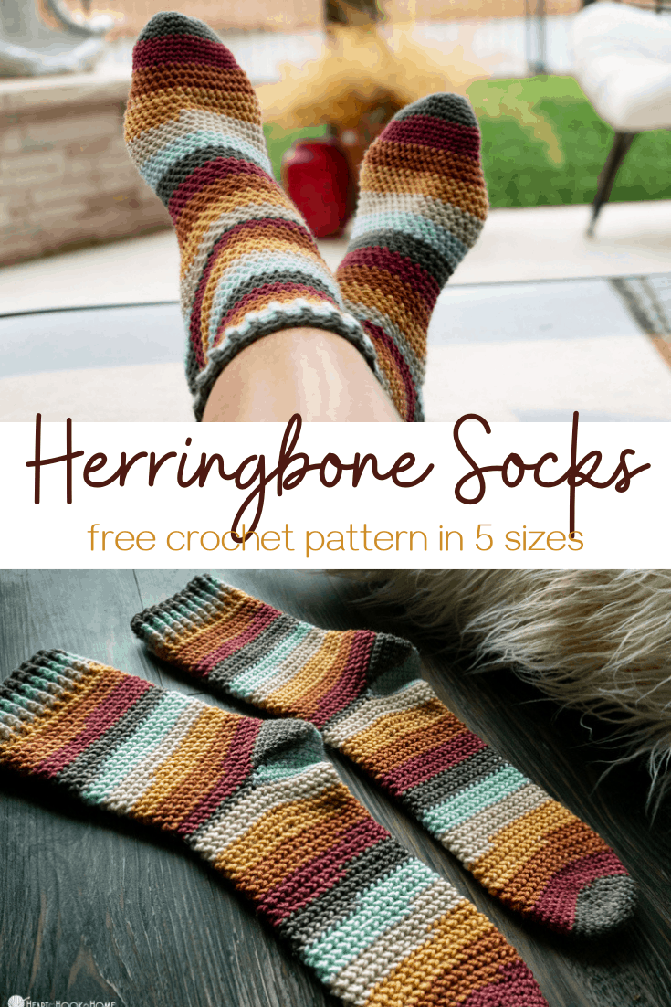 Herringbone Crochet Socks