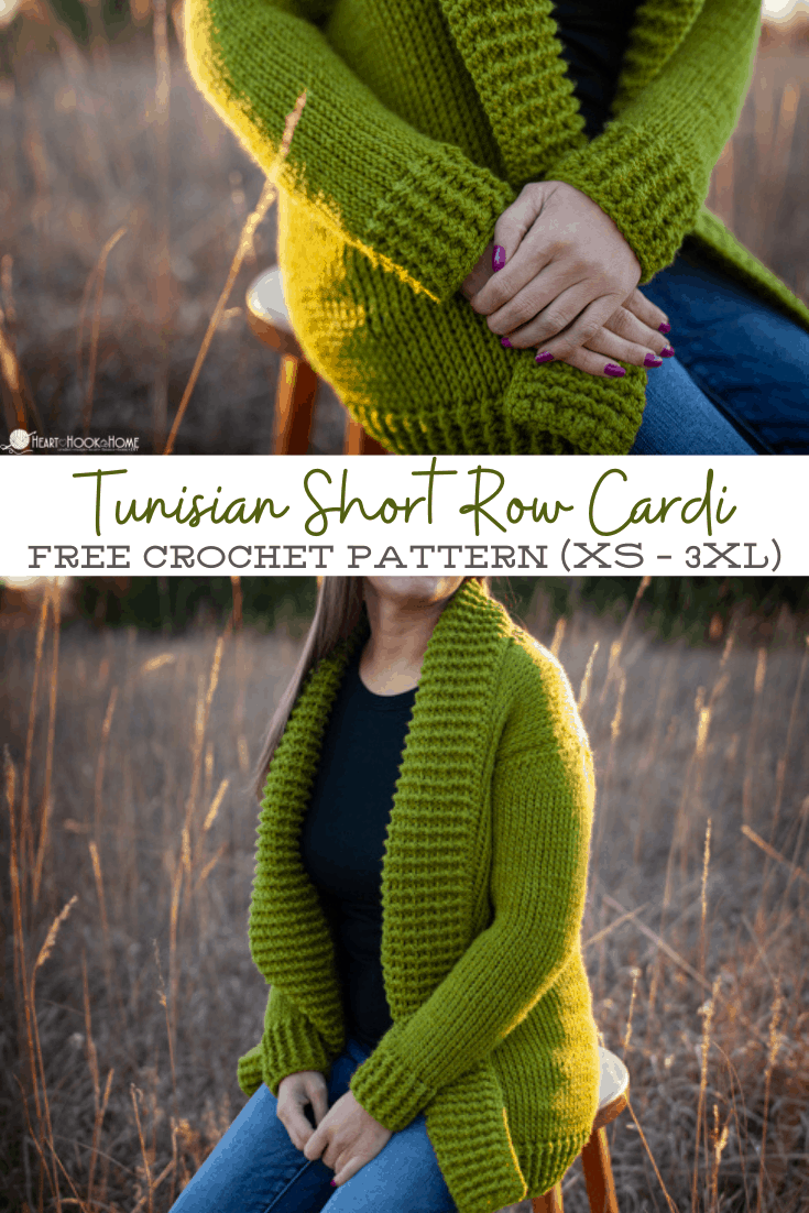 Tunisian Knit Short Row Cardi