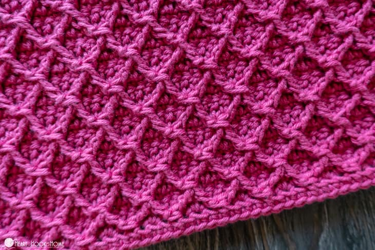 Diamond Stitch Crochet Tutorial