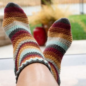 Herringbone Socks free crochet pattern