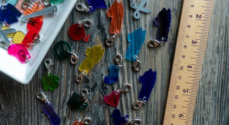 Shrink Film Stitch Markers for Crochet and knitting