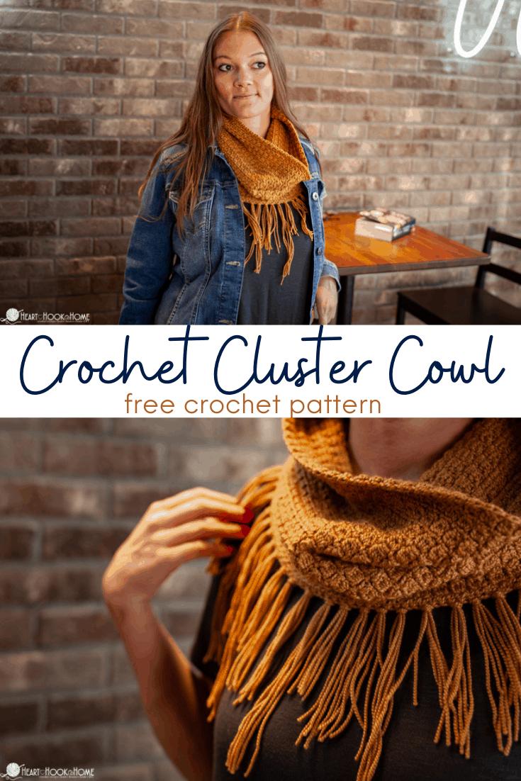 Crochet Cluster Cowl free crochet pattern