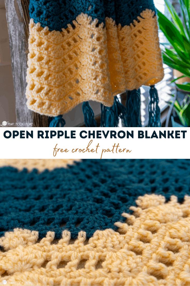 Open Ripple Chevron blanket