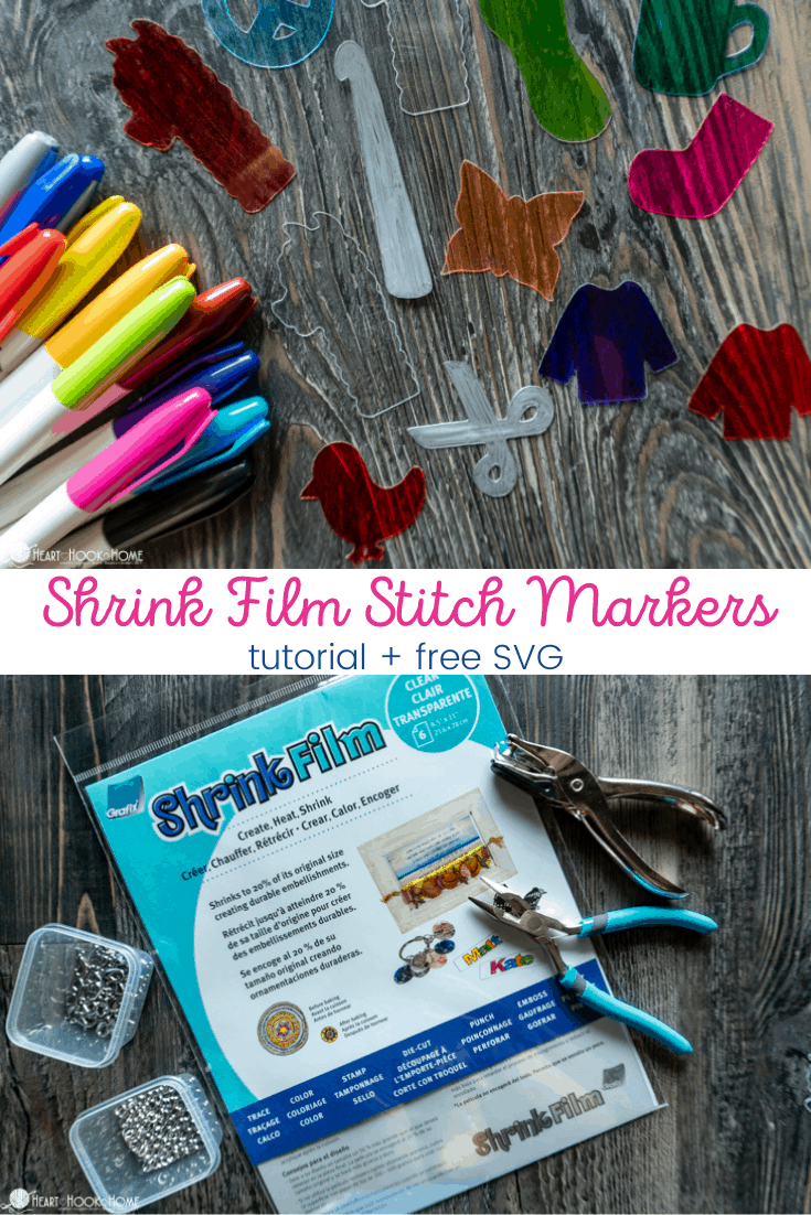 How to make stitch markers with shrink film