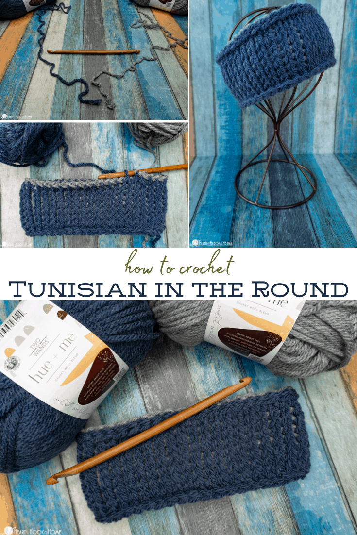how to crochet tunisian crochet in the round