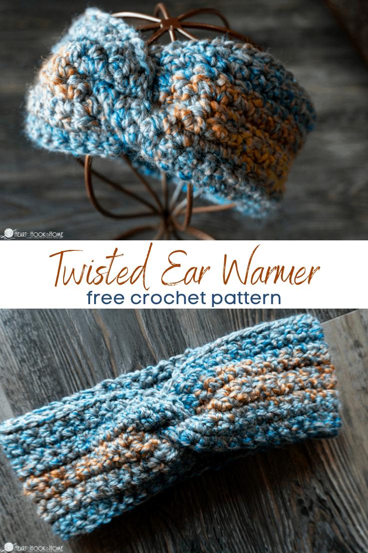 easiest twisted ear warmer